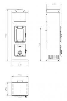 Kaminofen / Werkstattofen Thorma Vigsö II schwarz / weiß 5kW Bild 2