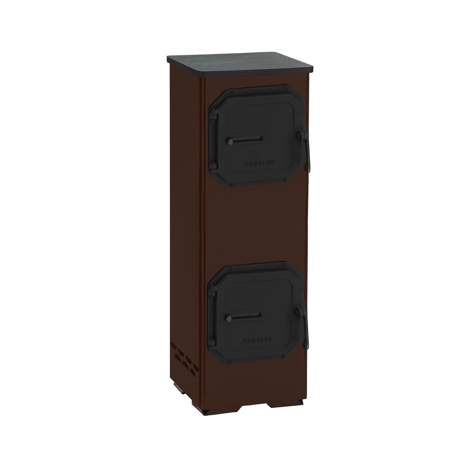 werkstattofen kaminofen wamsler denver braun 5 kw bei. Black Bedroom Furniture Sets. Home Design Ideas