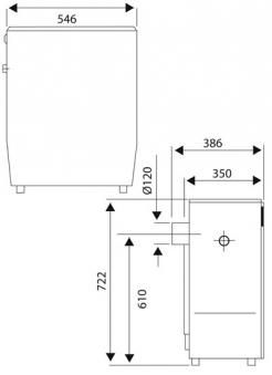 Werkstattofen / Kohleofen Wamsler KS109-6A maron 6 kW Bild 2