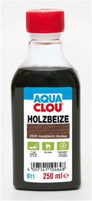 holzbeize aqua clou nussbaum dunkel 250 ml ebay. Black Bedroom Furniture Sets. Home Design Ideas