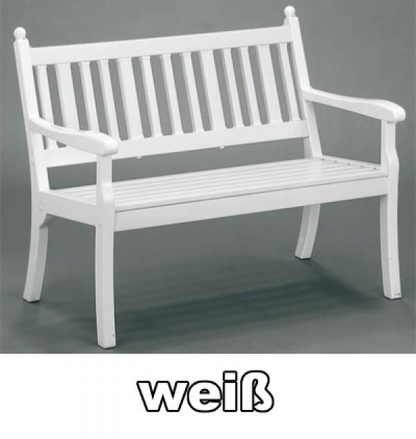 weiße kunststoff gartenbank