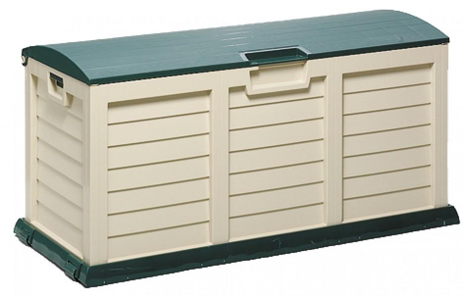 gartenbox kissenbox jumbo xxl 140x60x70cm gr n beige ebay. Black Bedroom Furniture Sets. Home Design Ideas
