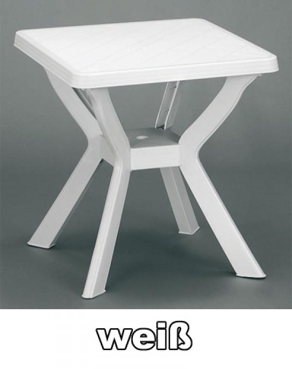 gartentisch balkontisch reno 70x70 cm wei kunststoff ebay. Black Bedroom Furniture Sets. Home Design Ideas