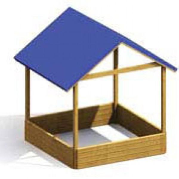 sandkasten moritz mit dach 134x134cm 4033821007657 ebay. Black Bedroom Furniture Sets. Home Design Ideas