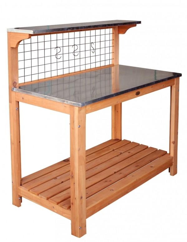 pflanztisch mit t ren pflanzschrank 101x86x55 5cm kiefer weiss ebay. Black Bedroom Furniture Sets. Home Design Ideas