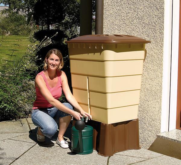 regentonne eckig sahara 520 liter sandbeige garantia 501208 ebay. Black Bedroom Furniture Sets. Home Design Ideas