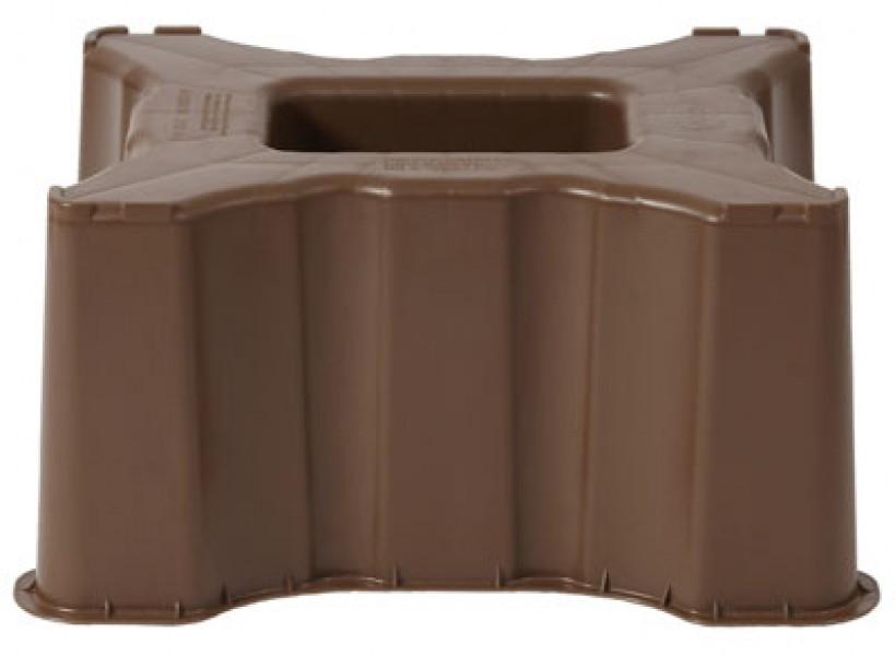 sockel unterstand f r regentonne sahara 300 l eckig braun garantia ebay. Black Bedroom Furniture Sets. Home Design Ideas