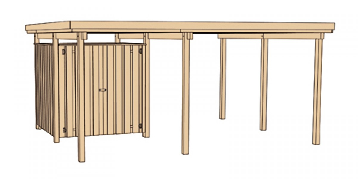 carport weka carport 607 gr 1 mit ger teraum kdi 512x416cm. Black Bedroom Furniture Sets. Home Design Ideas