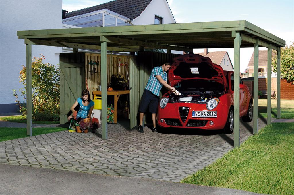 carport weka carport 607 gr 2 mit ger teraum kdi 512x602cm. Black Bedroom Furniture Sets. Home Design Ideas