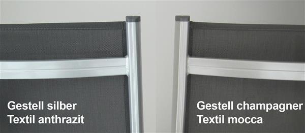 kettler gartenliege basic plus 0301214-000 stapelbar silber/anthr. alu,