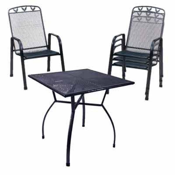 gartenm bel set tousanne streckmetall eisengrau ebay. Black Bedroom Furniture Sets. Home Design Ideas