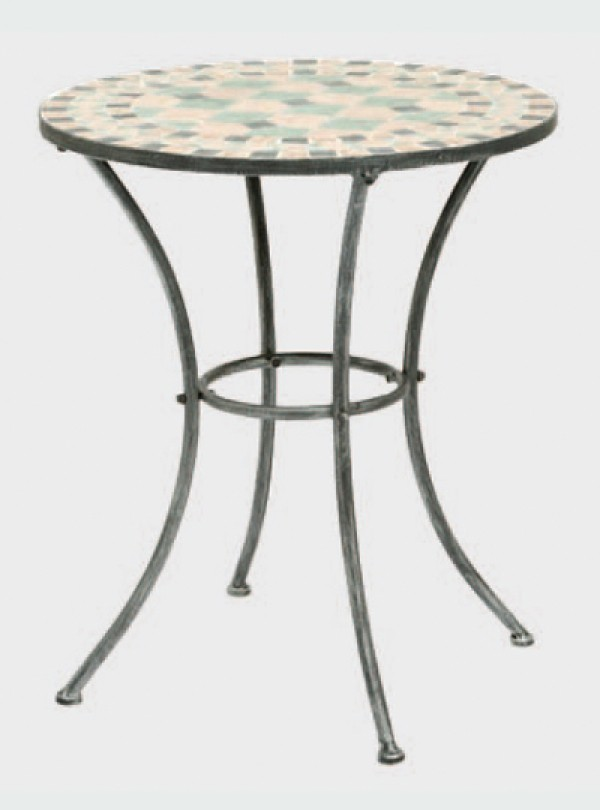 siena garden gartentisch balkontisch fiore 70cm eisen mosaik ebay. Black Bedroom Furniture Sets. Home Design Ideas