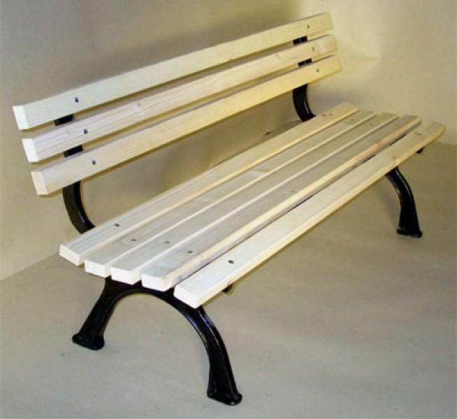 Gartenbank / Parkbank 3 Sitzer Riva Gusseisen / Fichte | eBay