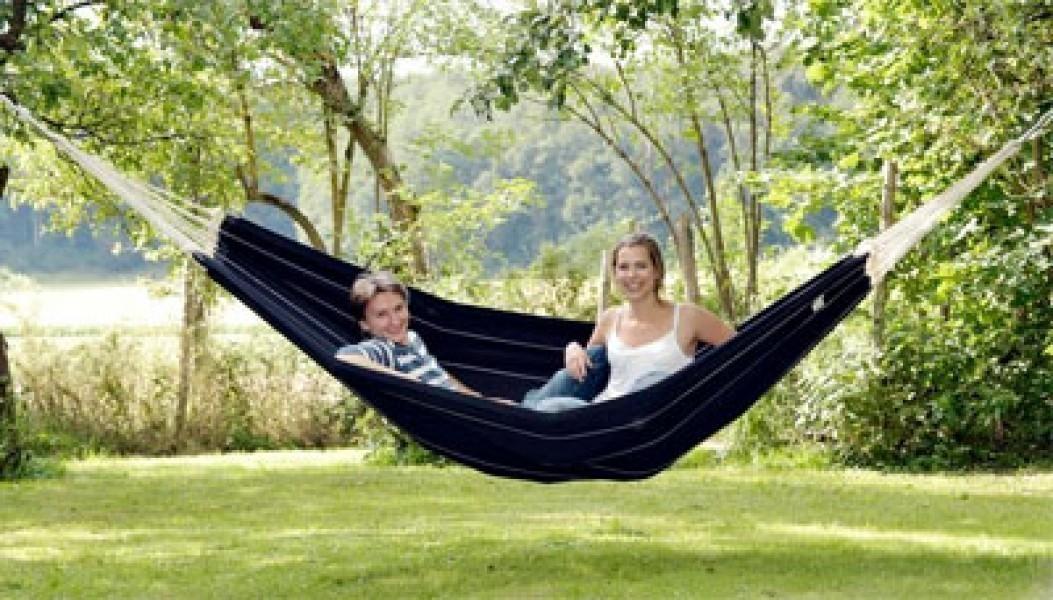 h ngematte amazonas barbados black 230x150cm xl ebay. Black Bedroom Furniture Sets. Home Design Ideas