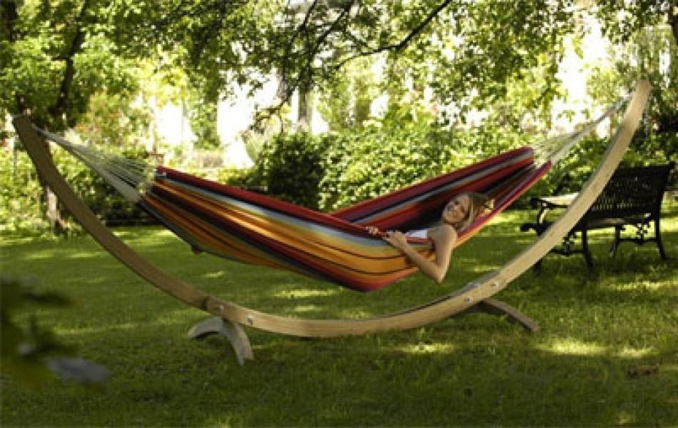 h ngemattengestell holz amazonas olymp ebay. Black Bedroom Furniture Sets. Home Design Ideas