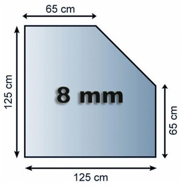Funkenschutzplatte / Bodenplatte Glas 5eck 1250x1250x8mm