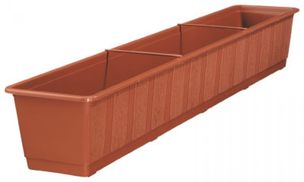 blumenkasten standard 100 cm terracotta ebay. Black Bedroom Furniture Sets. Home Design Ideas
