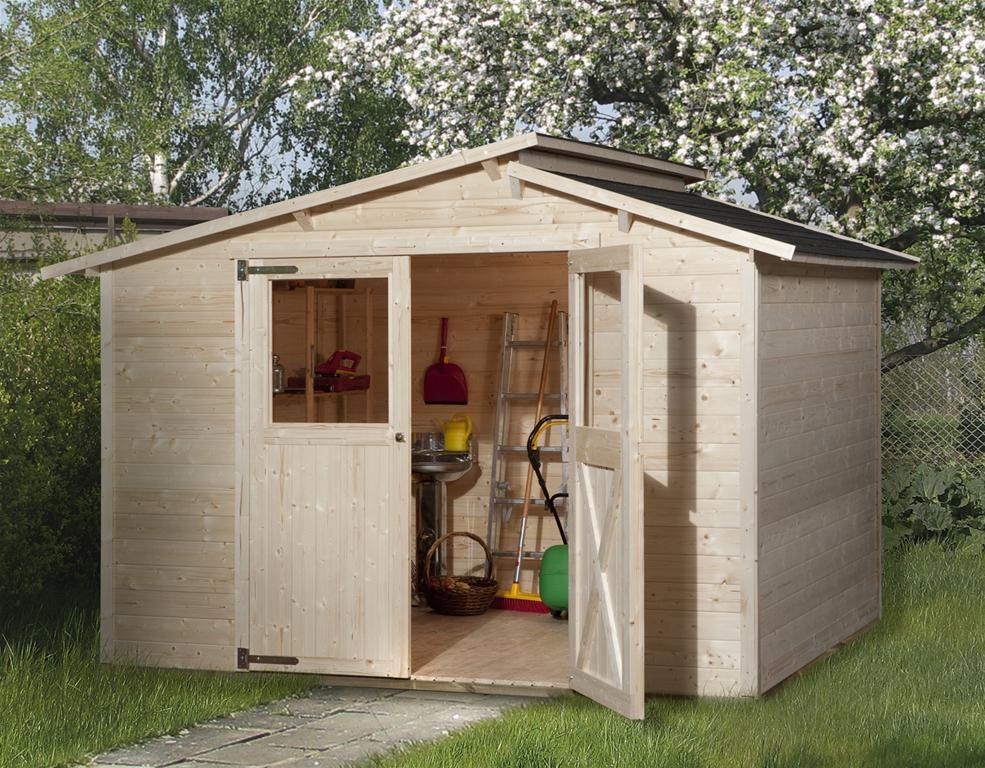 weka ger tehaus 19mm gartenhaus 323 gr 1 natur 225x175cm ebay. Black Bedroom Furniture Sets. Home Design Ideas