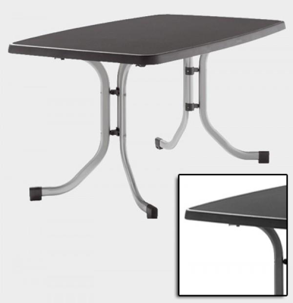 sieger gartentisch klapptisch 150x90cm stahl grau mecalit anthrazi ebay. Black Bedroom Furniture Sets. Home Design Ideas