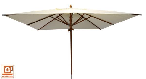 sonnenschirm holz zangenberg bangkok gastronomie 400x300cm natur d810 ebay. Black Bedroom Furniture Sets. Home Design Ideas