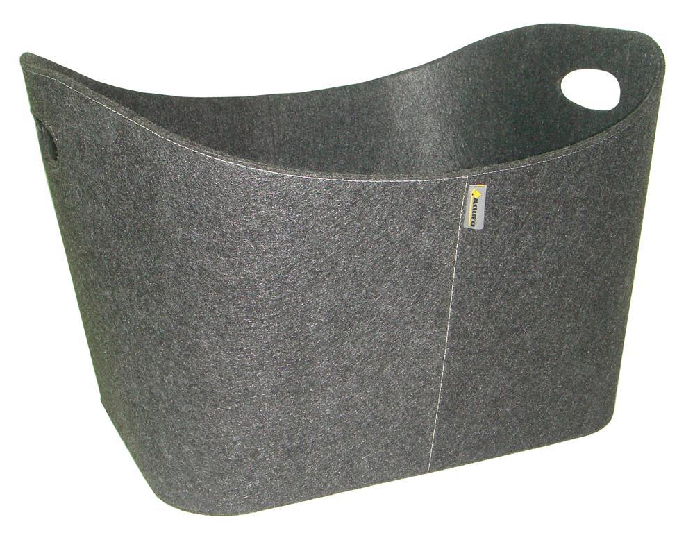 holzkorb kaminholzkorb baseline filz grau ebay. Black Bedroom Furniture Sets. Home Design Ideas