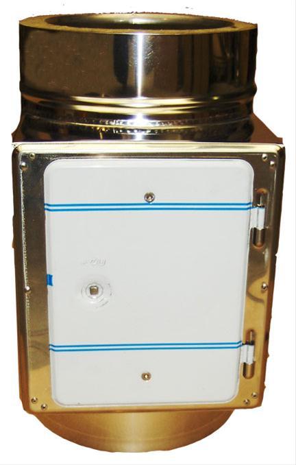 Reinigungsöffnung / Prüföffnung für Schornsteinverlängerung Ř 130 mm