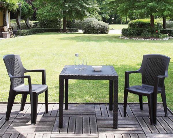 gartenstuhl eden stapelbar kunststoff anthrazit ebay. Black Bedroom Furniture Sets. Home Design Ideas