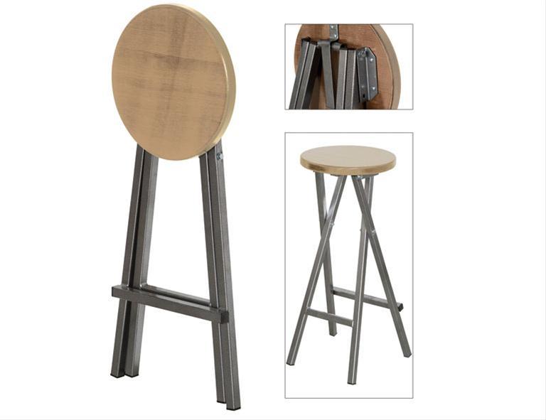 barhocker klappbar kiefernholz stahl ebay. Black Bedroom Furniture Sets. Home Design Ideas