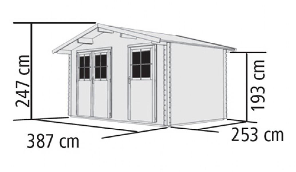 woodfeeling gartenhaus 28 mm radur 0 natur 406x312cm ebay. Black Bedroom Furniture Sets. Home Design Ideas