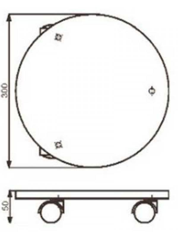 wagner pflanzenroller multi untersetzer fahrbar 30cm stahl verzinkt ebay. Black Bedroom Furniture Sets. Home Design Ideas
