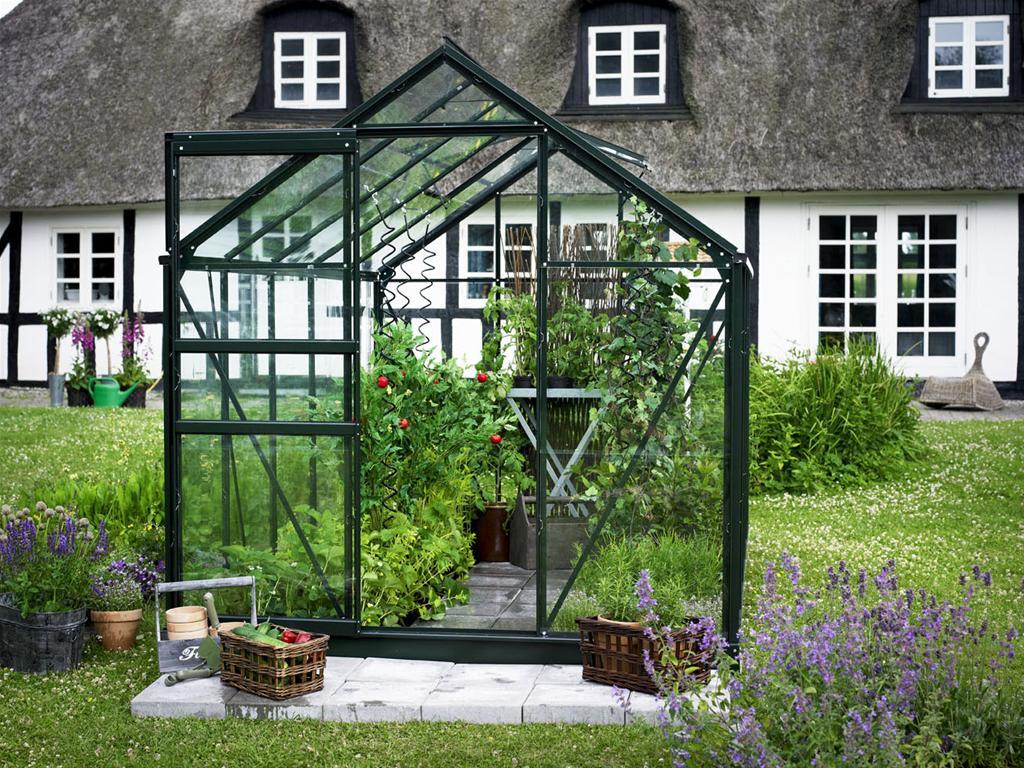 Gewächshaus Juliana Popular 106 6,2m² Alu grün 3mm Blankglas   eBay