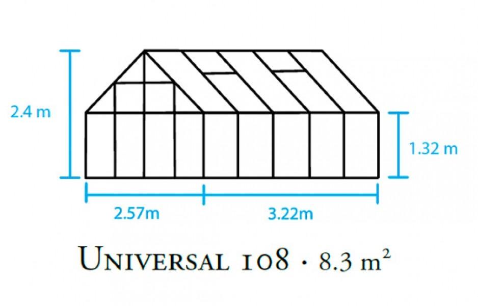 gew chshaus juliana universal 108 8 3m alu 6mm doppelstegplatten ebay. Black Bedroom Furniture Sets. Home Design Ideas