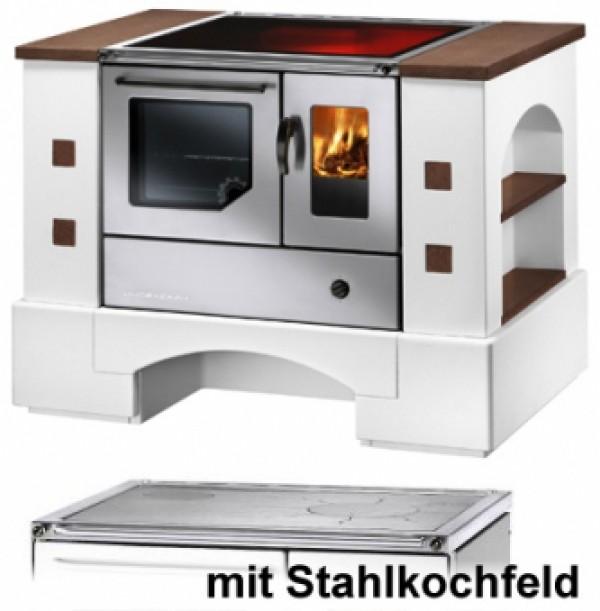 Küchenherd Haas+Sohn Planai.5 BSH 75.5-SF cotto Edelst. Stahlfeld li ...