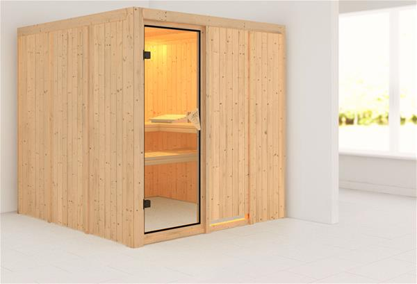 karibu sauna rodin 68mm ohne ofen classic t r ebay. Black Bedroom Furniture Sets. Home Design Ideas