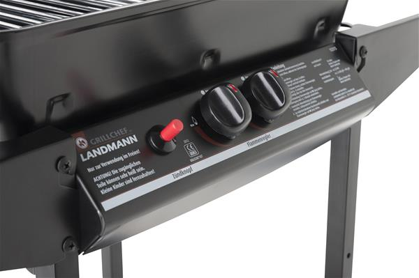 grill chef gasgrill gasgrillwagen lavasteingrill 49x38cm 12375 ebay. Black Bedroom Furniture Sets. Home Design Ideas