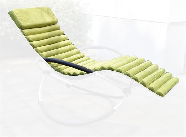 polster auflage f r sonnenliege gr n ebay. Black Bedroom Furniture Sets. Home Design Ideas