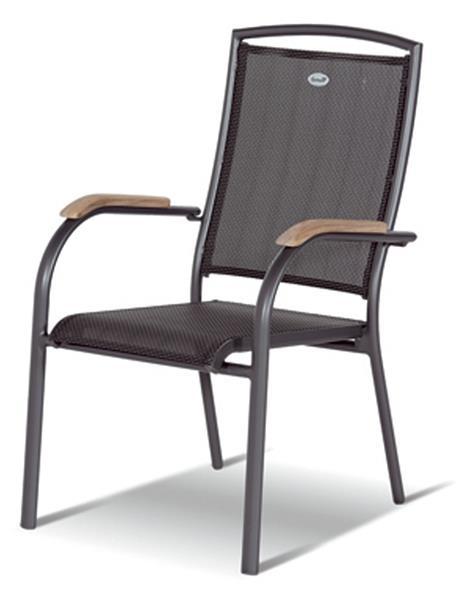 Gartenstühle stapelbar  Gartensessel / Gartenstuhl stapelbar Raffaello Hartman Alu anthrazit ...