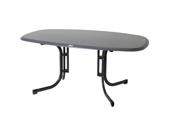 gartentisch acamp piazza oval 160x97cm klappbar werzalit anthr punti. Black Bedroom Furniture Sets. Home Design Ideas