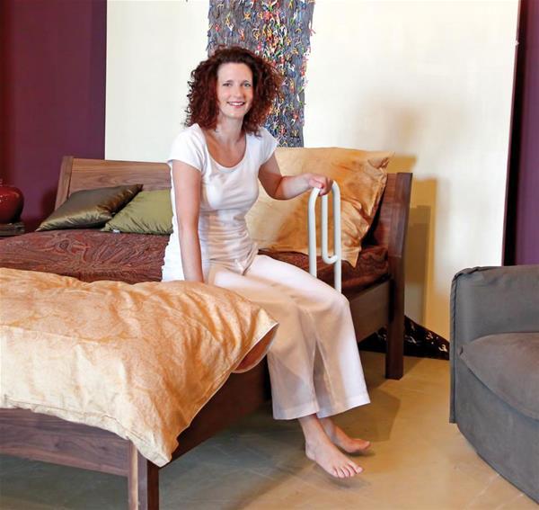 st tzklappgriff mit bodenst tze haltegriff blau ebay. Black Bedroom Furniture Sets. Home Design Ideas