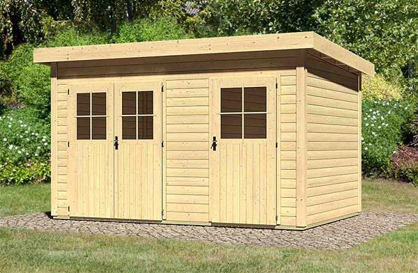 woodfeeling gartenhaus 28 mm tintrup natur 396x273cm ebay. Black Bedroom Furniture Sets. Home Design Ideas