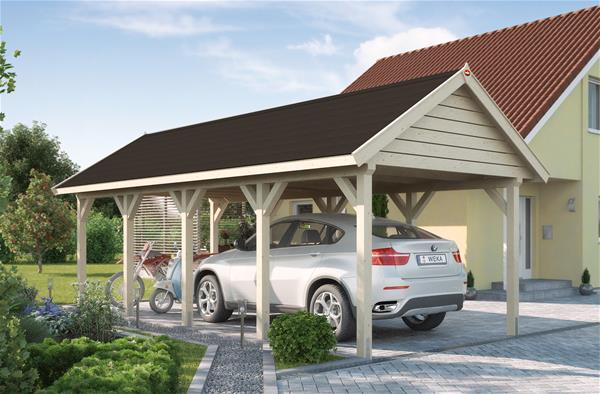 einzelcarport karibu premium carport einzel 1 kdi pvcdach. Black Bedroom Furniture Sets. Home Design Ideas