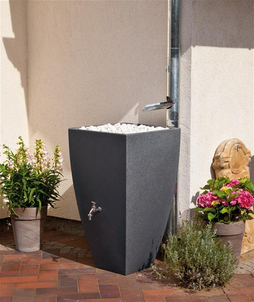 regentonne regenwassertank 200 l rewatec modena black granit ebay. Black Bedroom Furniture Sets. Home Design Ideas