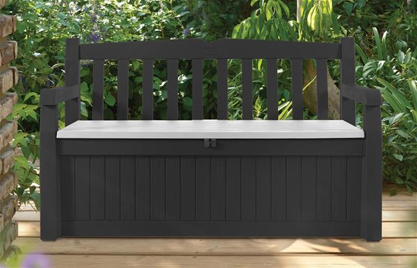 panca giardino cassapanca keter con baule cuscini. Black Bedroom Furniture Sets. Home Design Ideas
