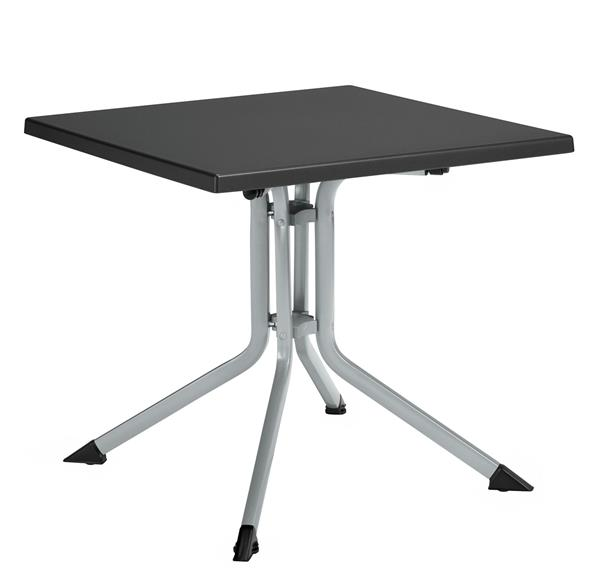 kettler gartentisch 0307018 0000 klappbar 80x80cm silber ebay. Black Bedroom Furniture Sets. Home Design Ideas