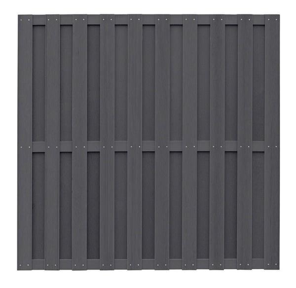 wpc zaun wpc sichtschutz anthrazit 180x180cm ebay. Black Bedroom Furniture Sets. Home Design Ideas