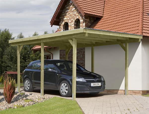 carport einzelcarport kdi mit pvc dach 300x500cm ebay. Black Bedroom Furniture Sets. Home Design Ideas