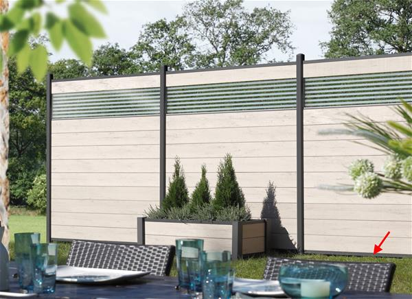 system wpc profil abschlussleiste unten 179cm anthrazit ebay. Black Bedroom Furniture Sets. Home Design Ideas