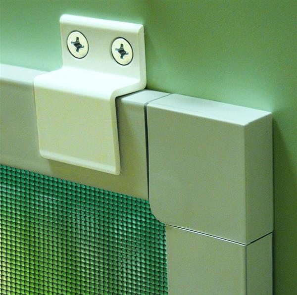 einh ngewinkel f r insektenschutz fenster schellenberg 4 st ck wei ebay. Black Bedroom Furniture Sets. Home Design Ideas