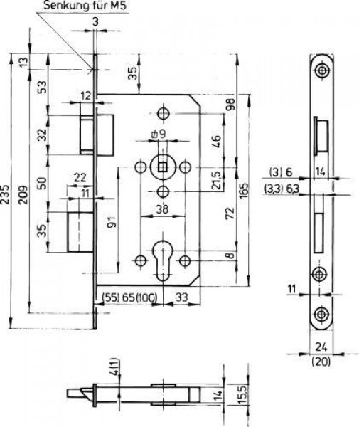fh anti panik schlo pzw ls get nu 65 72 9 ebay. Black Bedroom Furniture Sets. Home Design Ideas