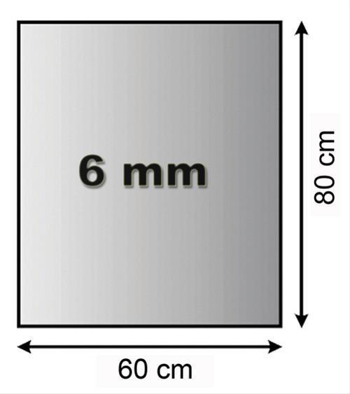Funkenschutzplatte Glas 6mm Lienbacher 4-Eck 60x80mm